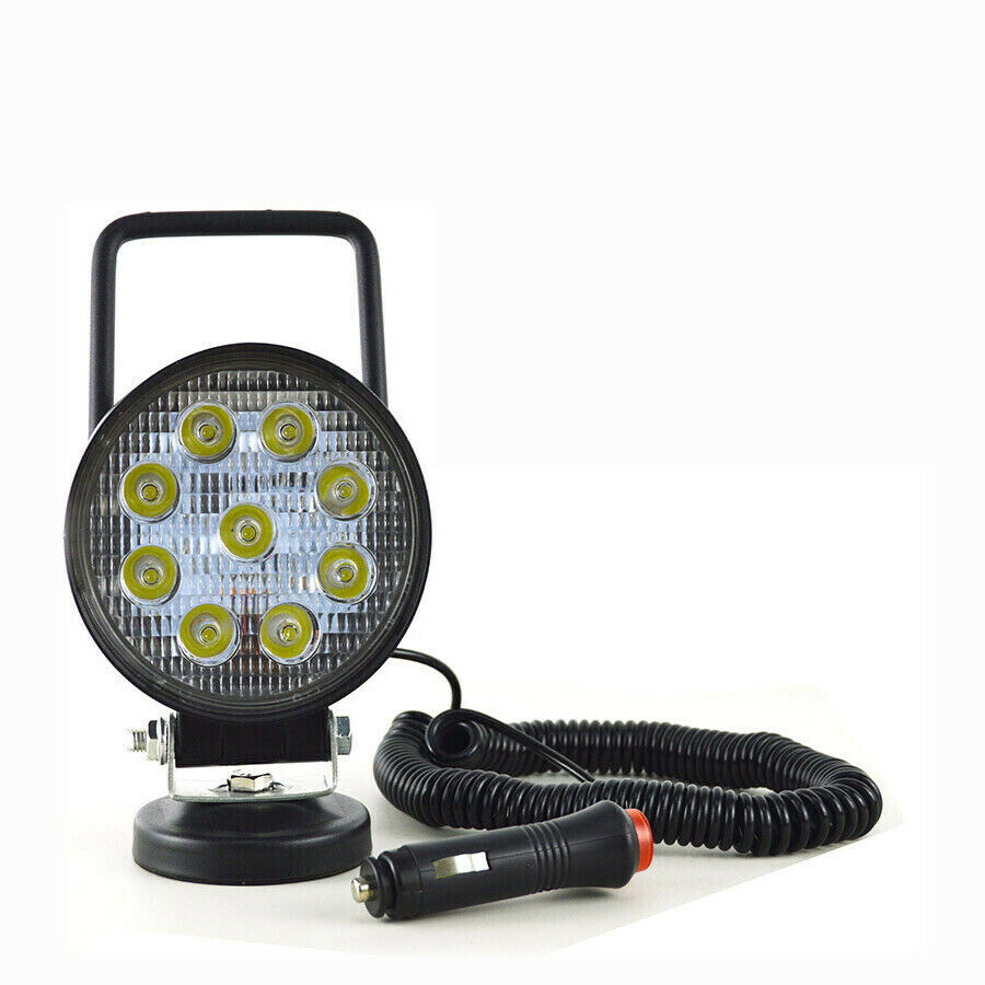 LED reflektor s magnetem 27W kulatý